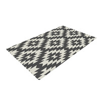"Amanda Lane ""Southwestern Black Cream"" Tribal Geometric Woven Area Rug"