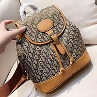D DIOR New fashion more letter leather backpack bag women