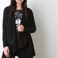 Fleece Draping Cardigan