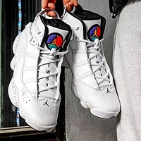 Air Jordan 6 Rings Classic Women Casual Sport Basketball Shoes Sneakers White