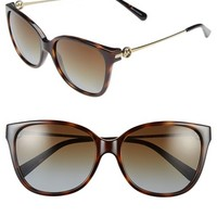 Women's Michael Kors Collection 'Glam' 57mm Polarized Sunglasses