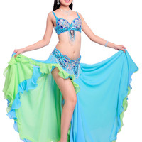 New Belly Dance Costume Outfits Full Set 3 Pics Bra&Belt&Skirt 34B/C 36B/C 38B/C 40B/C 7 Colors-in Belly Dancing from Novelty & Special Use on Aliexpress.com   Alibaba Group