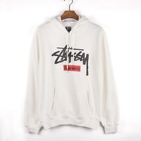 Stussy Casual Hoodie Long Sleeve Drawstring Top Sweater Sweatshirt-1