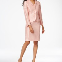 Le Suit Shimmer Three-Button Skirt Suit Women - Wear to Work - Macy's