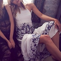 Intimately Womens High Neck Printed Maxi - Ivory,