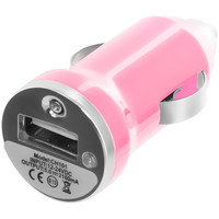 Light Pink Car Charger (1.2A) for HTC Salsa
