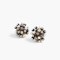 Crystal and pearl studded earrings