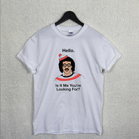 LIONEL RICHIE T Shirt Top Unisex Hello Its Me Looking For Funny Joke Novelty Fan Humor