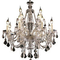 Elegant Lighting - 7831 Alexandria Collection Hanging Fixture D28in H31in Lt:8+4 Chrome Finish (Royal Cut Crystal)