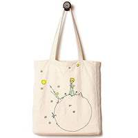 Andes Heavy Duty Canvas Tote Bag, Handmade from 12-ounce Pure Cotton, Perfect for Shopping, Laptop, School Books, The Little Prince