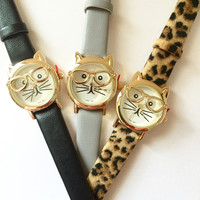 Cute Kitty Strap Watch - 3 colors
