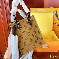 Louis Vuitton LV Women Shopping Leather Handbag Tote Crossbody Satchel Shoulder Bag