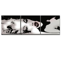 IN STOCK - Sexy Marilyn Monroe Art Black White Abstract Canvas Print