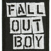 Fall Out Boy Iron-On Patch Rectangle Letters Logo