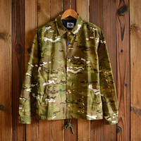 Vintage Men's Camo Lightweight Jackets with Hood