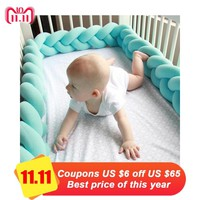 Baby Bed Bumper kids Crib Bumpers Braided knotted cushions Baby Sofa pillow Nursery bedding Baby room decoration