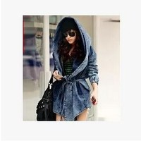Josie hooded denim coat