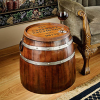 Park Avenue Collection French Wine Barrel Side Table