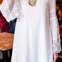 Lady Of Lace Cream Shift Dress