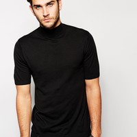 ASOS Knitted T-Shirt with Turtleneck