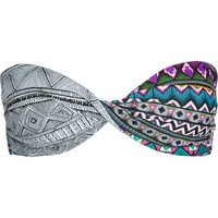 Hurley Juniors Tribal Fusion Twist Bandeau, Multi, Medium