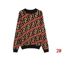 FENDI Autumn Winter Classic Popular Women Casual Double F Letter Long Sleeve Round Collar Knit Sweater Top Sweatshirt