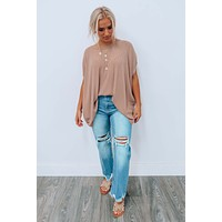 All About Me Top: Mocha