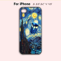 Van gogh ,Dr.Who Starry Night,iPhone 5 case,iPhone 5C Case,iPhone 5S Case, Phone case,iPhone 4 Case, iPhone 4S Case