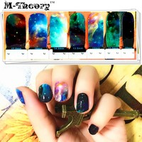 Fashion Nail Art Stickers Adhesive Nails Wraps Waterproof Durable 1-2 Weeks Marvelous Space Designs