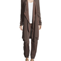 Veranda Combo Draped Jacket, Woodsmoke, Size:
