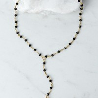 Raw And Rebellious Sunshowers Black Lariat Necklace