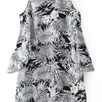 False Two Piece Printed Dress