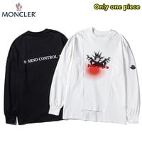 Moncler autumn new flocking printed thin long-sleeved sweater