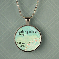Divergent Quote and Ferris Wheel Pendant Necklace