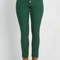 Skinny Karaoke Songstress Jeans in Forest Green