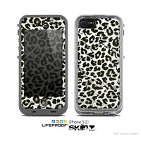 The Neutral Cheetah Print Vector V3 Skin for the Apple iPhone 5c LifeProof Case