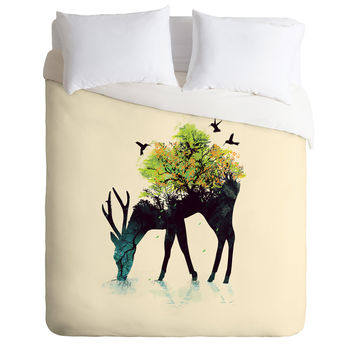 Budi Kwan Watering A Life Into Itself Duvet Cover