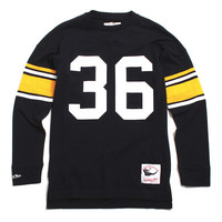 Jerome Bettis Pittsburgh Steelers Name & Number Longsleeve Jersey Black
