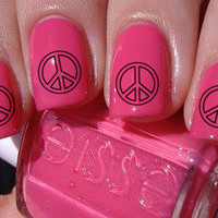 Peace Sign Nail Decals 36 Ct.