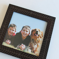 altered burned wood picture frame, 5X5 square
