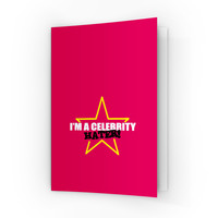 Celebrity Hater A6 Greeting Card by Chargrilled