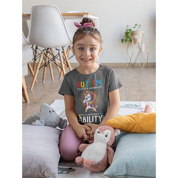 Kids Autism Unicorn T Shirt Love Different Ability Autism Shirt Cute Autism T Shirt Autism Awareness Shirt
