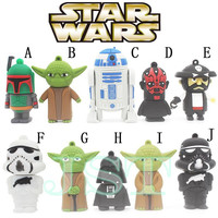 Promotion! Star wars usb flash drive 2gb usb stick 4gb pen drive free shipping flash cards 8gb USB 2.0 16gb pendrive U disk gift