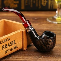 Fashion Snake Scale Resin Pipes Chimney Double Filter Wood Smoking Pipe Herb Tobacco Pipe Cigar Narguile Weed Grinder Smoke