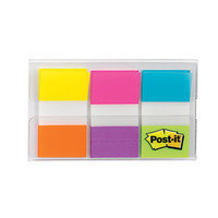 Post it Flags 1 x 1 710 Assorted Electric Glow Colors Pack Of 60 Flags by Office Depot & OfficeMax