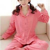 Starry Dreams Star Print Vintage Pajama Set in Pink | Sincerely Sweet Boutique