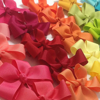Set of 5 Tails Down Hair Bows - Your Choice of Colors, Tails Down Bows, Girls Hair Bows, Grosgrain Hair Bows, Girls Hair Accessories