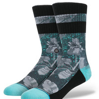 Stance - Grayscale Floral (Black)
