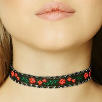 Floral Embroidery Choker