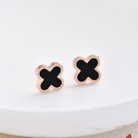 Brand Like Elegant Clover Fashion Women Gold Stud Jewelry Accessories Earrings _ 8452